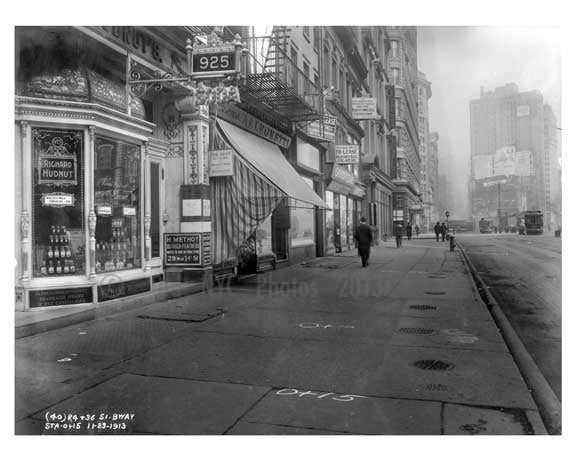 Broadway street view Midtown Manhattan  NY 1913 A Old Vintage Photos and Images