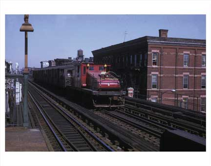 Broadway Train Bushwick Brooklyn NY Old Vintage Photos and Images