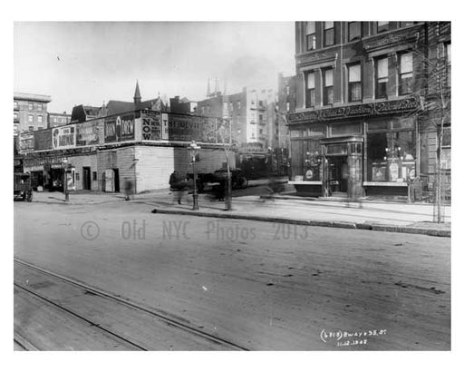 Broadway & W. 95th Street - Upper West Side - New York, NY 1908 Q4 Old Vintage Photos and Images