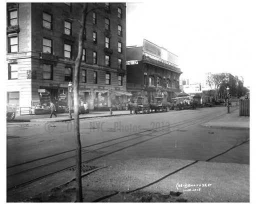Broadway & W. 95th Street - Upper West Side - New York, NY 1910 Q2 Old Vintage Photos and Images