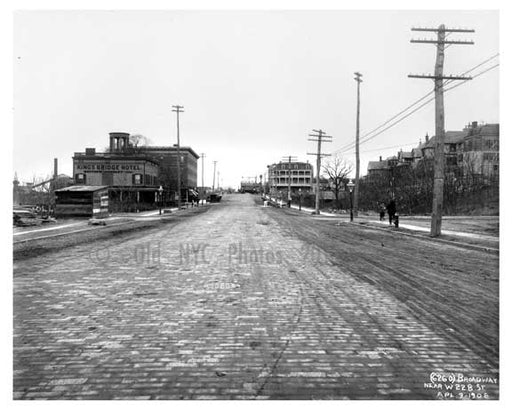 Broadway & West 228th Street - Marble Hill - South Bronx, NY 1904 Old Vintage Photos and Images