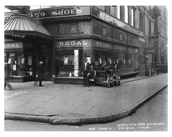 Broadway & West 37th Street - Midtown Manhattan - NY 1914 B Old Vintage Photos and Images