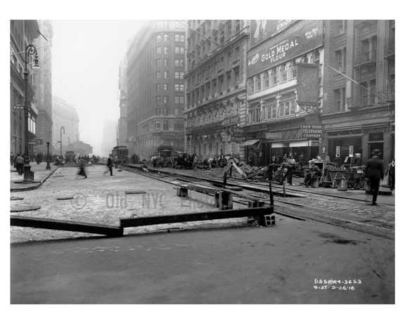Broadway & West 41st Street - Midtown - Manhattan  1914 Old Vintage Photos and Images