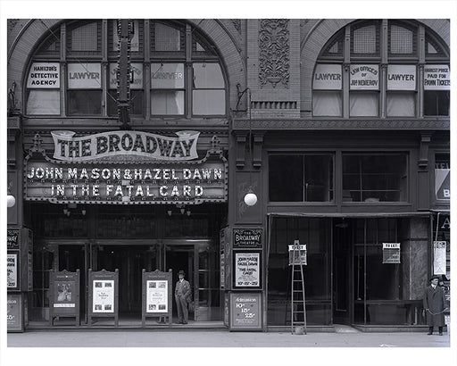 41st Street  Broadway Theater - Times Square - New  York, NY 1915 CE