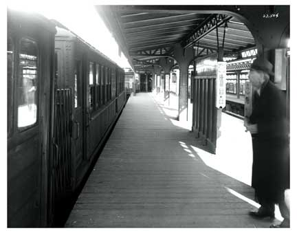 Bronx Man on Train Platform Old Vintage Photos and Images