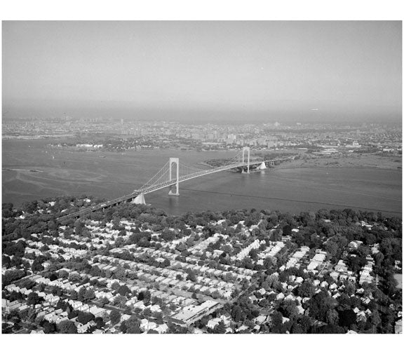 Bronx - Whitestone Bridge as viewed from Queens Old Vintage Photos and Images
