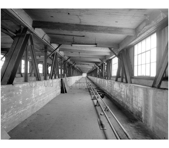 Brooklyn Army Supply Base, second floor, connecting bridge looking west Old Vintage Photos and Images