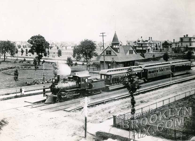 Brooklyn, Bath & West End Railroad at Bath and 21st Avenues, 1892