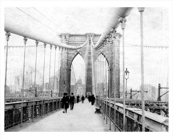 Brooklyn Bridge 1890 Old Vintage Photos and Images