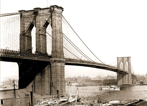 Brooklyn Bridge 1895 Old Vintage Photos and Images