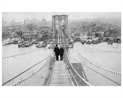 Brooklyn Bridge Construction 2 Old Vintage Photos and Images