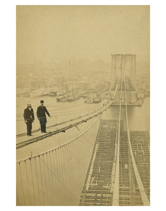 Brooklyn Bridge Construction Old Vintage Photos and Images