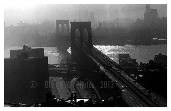 Brooklyn Bridge from Municipal Bldg 1950's Old Vintage Photos and Images