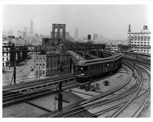 Brooklyn Bridge Train DUMBO 1938 Old Vintage Photos and Images