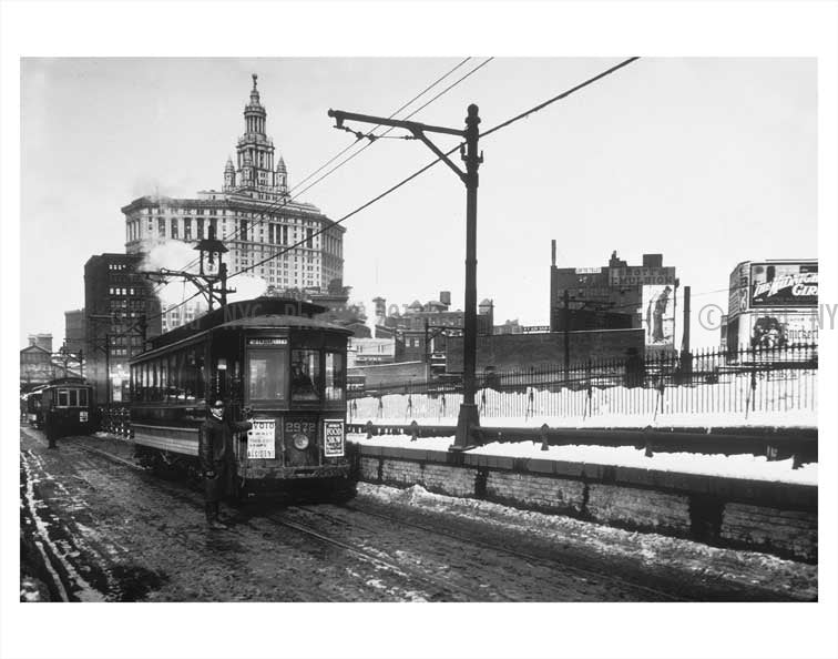 Brooklyn Bridge trolley Old Vintage Photos and Images