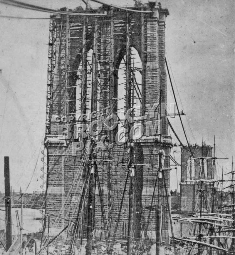 Brooklyn Bridge under construction, 1879 Old Vintage Photos and Images