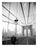 Brooklyn Bridge - view looking down pedestrian walkwaytowards Brooklyn Old Vintage Photos and Images