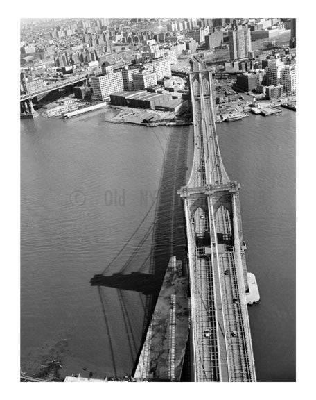 Brooklyn Bridge -  view towards Brooklyn - 1982 Old Vintage Photos and Images