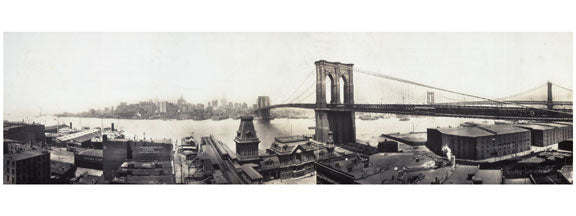 Brooklyn Bridge - with Manhattan in view Old Vintage Photos and Images