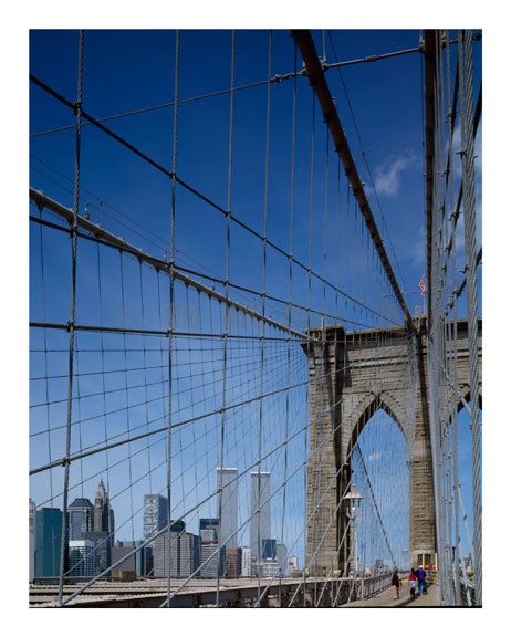 Brooklyn Bridge - with New York City in the background Old Vintage Photos and Images