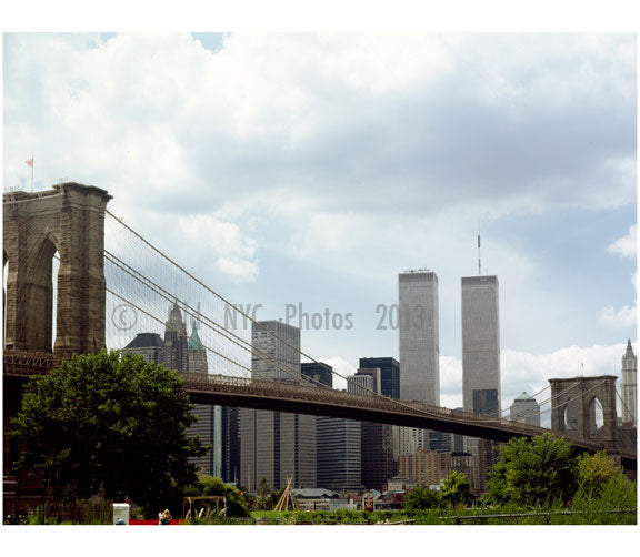 Brooklyn Bridge - with World Trade Center Old Vintage Photos and Images