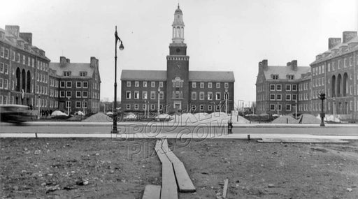 Brooklyn College campus nearing completion, view across Bedford Avenue, 1937-8 Old Vintage Photos and Images