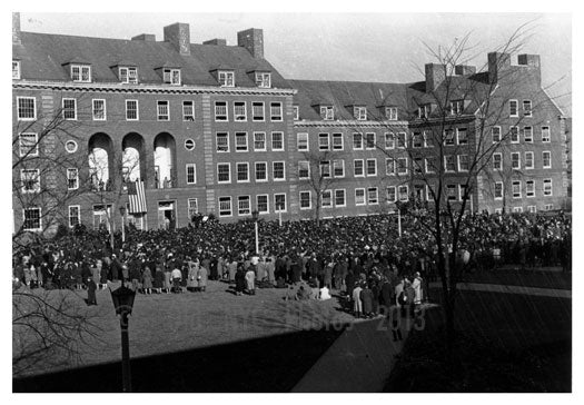 Brooklyn College - President addressing the students regarding Pearl Harbor dec.8th 1941 Flatbush Brooklyn NY Old Vintage Photos and Images