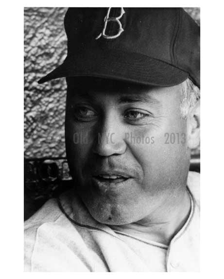 Brooklyn Dodger Duke Snider in the dugout Ebbets Field 1957 - Brooklyn NY