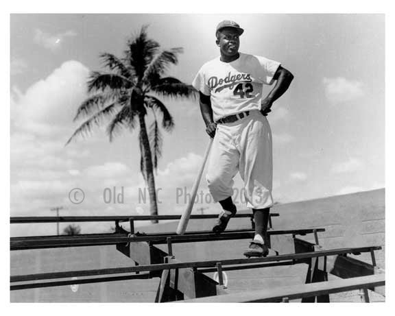 Brooklyn Dodger Jackie Robinson spring training  in Florida 1940s