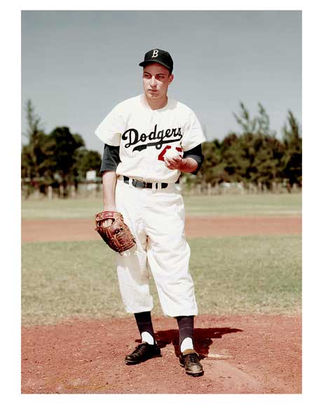 Brooklyn Dodgers - can you name that pitcher?