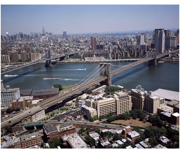 Brooklyn & Manhattan Bridges from the air Old Vintage Photos and Images
