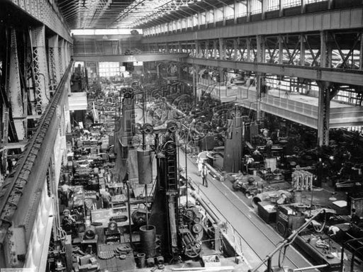 Brooklyn Navy Yard machine shop, 1941 Old Vintage Photos and Images