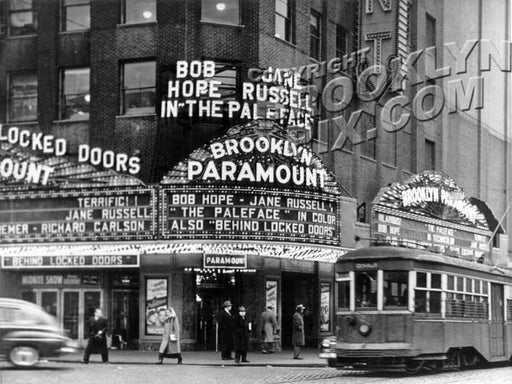 Brooklyn Paramount Theater, at Flatbush and DeKalb Avenues, 1948 Old Vintage Photos and Images