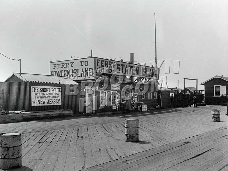 Brooklyn terminal of 69th Street-Staten Island Ferry, 1930s