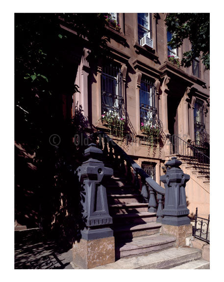 Brownstone apartment, in the Upper East Side Old Vintage Photos and Images