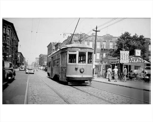 Brownsville trolley 1940s Brooklyn NY Old Vintage Photos and Images
