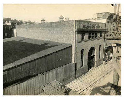 BRT 109 Tompkins Sub Station #3 south side Fulton Street 60 ft east of Brooklyn Ave  Brooklyn NY Old Vintage Photos and Images