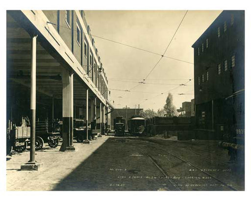 BRT line truck Bldg. looking east Sept 26th 1916 Old Vintage Photos and Images
