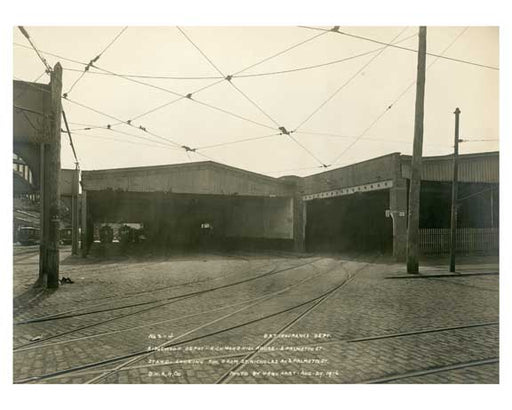 BRT Ridgewood Depot - looking SW from St. Nicholas & Palmetto Street Old Vintage Photos and Images