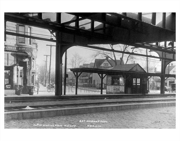 BRT Station 54th Street Old Vintage Photos and Images