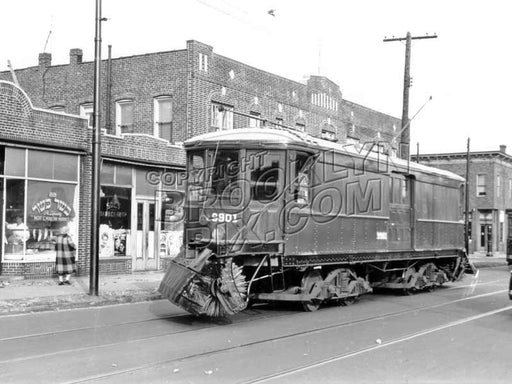 BRT Sweeper 9901 at Hegeman Avenue and Bristol Street, 1944 Old Vintage Photos and Images