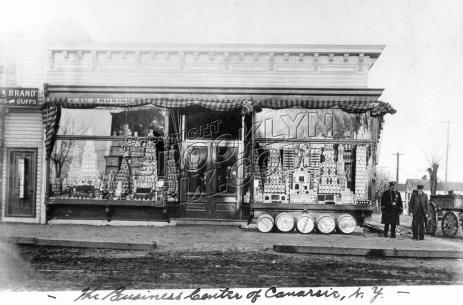 Bruning's Grocery northwest corner of Rockaway Parkway and Conklin Avenue, 1906 Old Vintage Photos and Images