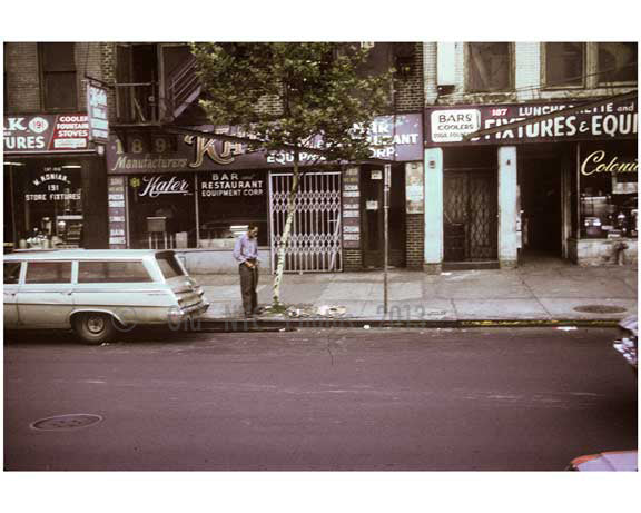 Bum urinating on the Bowery 1970s Old Vintage Photos and Images