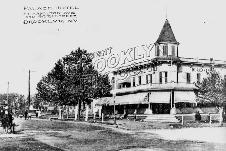 Burakart's Palace Hotel, northeast corner of 60th Street and Ft. Hamilton Parkway, 1912 Old Vintage Photos and Images