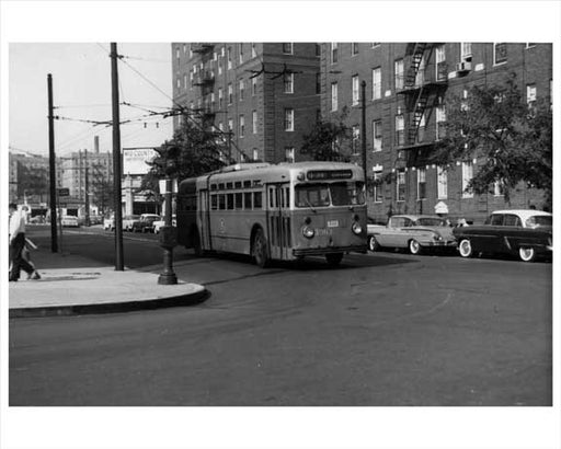 Bus Stop at Washington & Lefferts Ave Flatbush 1959 Brooklyn, NY Old Vintage Photos and Images
