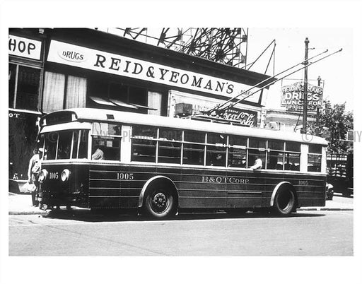 Bus stop on Flatbush Avenue Old Vintage Photos and Images