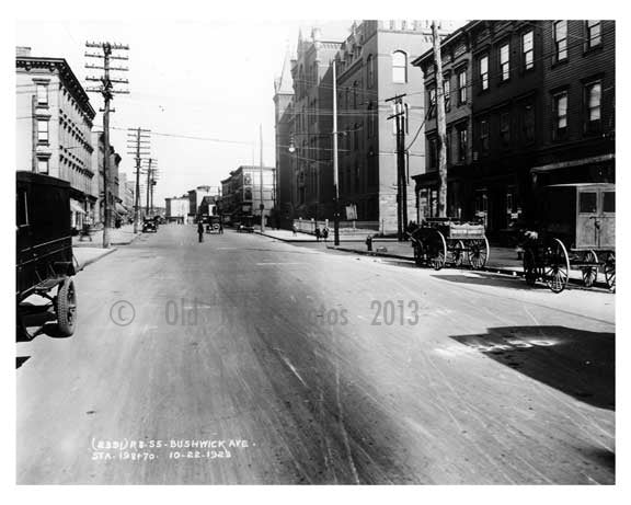 Bushwick Ave - Williamsburg - Brooklyn , NY  1923 III Old Vintage Photos and Images