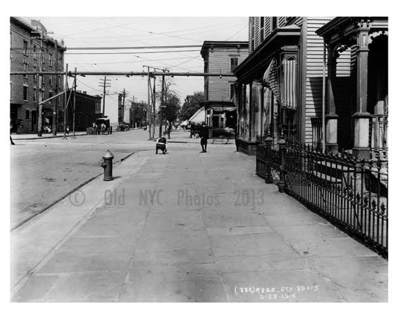 Bushwick Avenue north looking at Grand Ave  - Williamsburg - Brooklyn, NY 1916 E6 Old Vintage Photos and Images