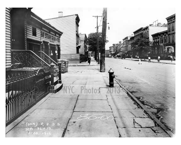 Bushwick Avenue north to Powers Street - Williamsburg - Brooklyn, NY 1916 D Old Vintage Photos and Images