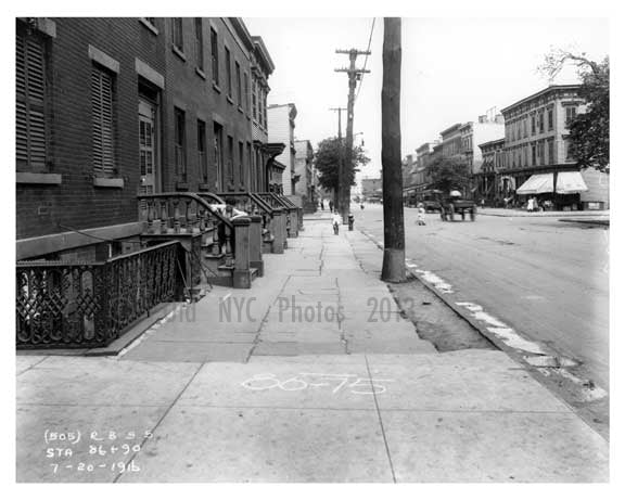 Bushwick Avenue north to Powers Street - Williamsburg - Brooklyn, NY 1916 I Old Vintage Photos and Images